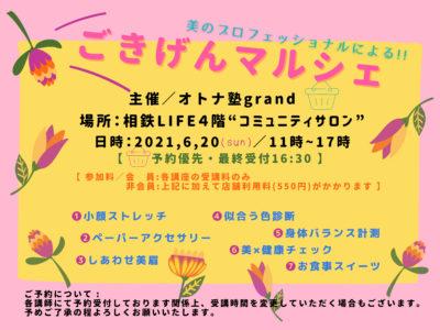 6/20 美のプロフェッショナルによる!! ごきげんマルシェ(神奈川県)